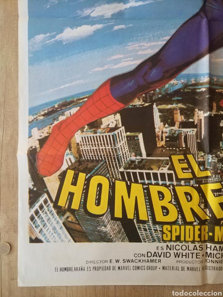 Cine: Cartel original Estreno cines en España película: EL HOMBRE ARAÑA (SPIDERMAN) Año: 1977 - Foto 8 - 207554757