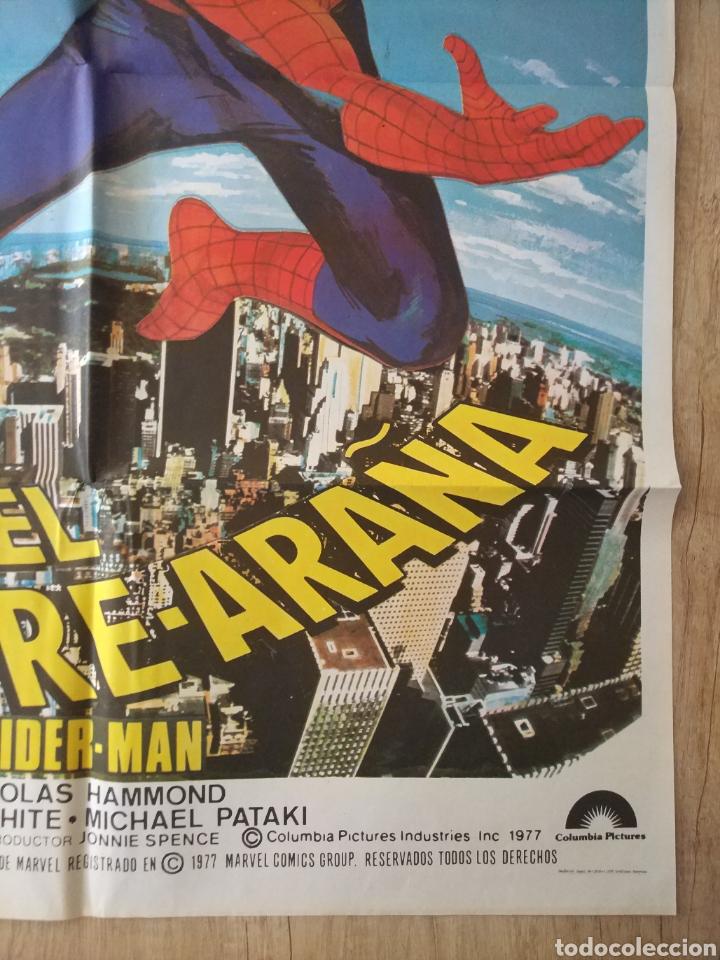 Cine: Cartel original Estreno cines en España película: EL HOMBRE ARAÑA (SPIDERMAN) Año: 1977 - Foto 9 - 207554757