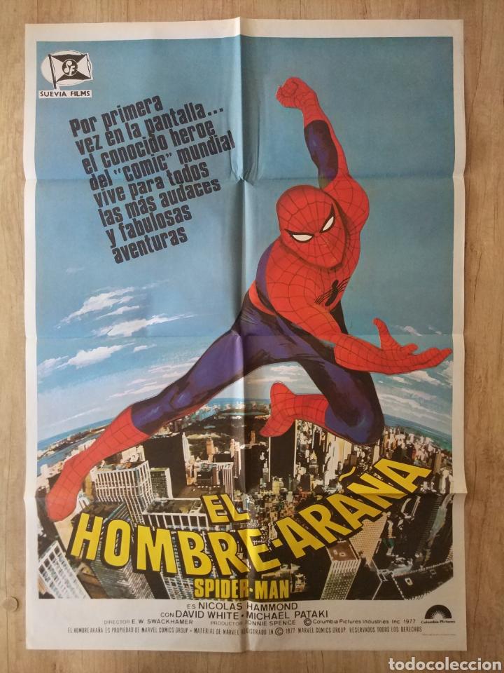 CARTEL ORIGINAL ESTRENO CINES EN ESPAÑA PELÍCULA: EL HOMBRE ARAÑA (SPIDERMAN) AÑO: 1977 (Cine - Posters y Carteles - Acción)