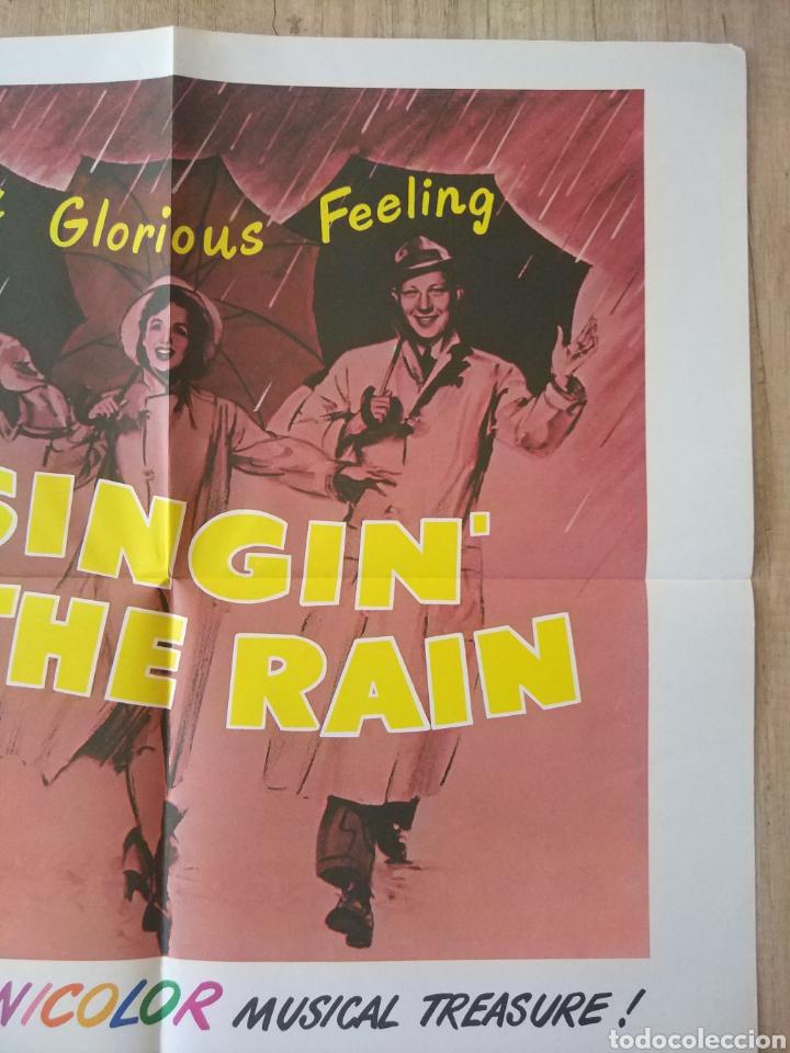 Cine: Cartel original Estreno cines EEUU película: SINGING IN THE RAIN (CANTANDO BAJO LA LLUVIA) Año: 1952 - Foto 6 - 207557428