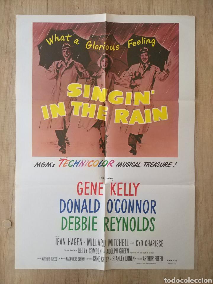 CARTEL ORIGINAL ESTRENO CINES EEUU PELÍCULA: SINGING IN THE RAIN (CANTANDO BAJO LA LLUVIA) AÑO: 1952 (Cine - Posters y Carteles - Musicales)