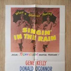 Cine: CARTEL ORIGINAL ESTRENO CINES EEUU PELÍCULA: SINGING IN THE RAIN (CANTANDO BAJO LA LLUVIA) AÑO: 1952. Lote 207557428