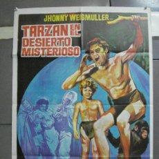 Cine: CDO 2900 TARZAN EN EL DESIERTO MISTERIOSO EL TEMERARIO WEISSMULLER POSTER JANO 70X100 ESPAÑOL R-71. Lote 207617280