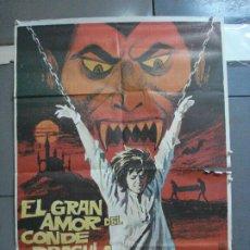 Cine: CDO 2922 EL GRAN AMOR DEL CONDE DRACULA PAUL NASCHY POSTER ORIGINAL 70X100 ESTRENO. Lote 207623611