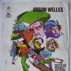 Cinema: LA ISLA DEL TESORO, CON ORSON WELLES. POSTER 34,5 X 50 CMS.1973.. Lote 207668118