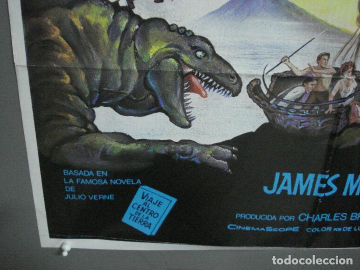 Cine: CDO 2945 VIAJE AL CENTRO DE LA TIERRA JAMES MASON JULIO VERNE MATAIX POSTER ORG 70X100 ESPAÑOL R-80s - Foto 5 - 207701861