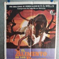 Cinema: EL ALIMENTO DE LOS DIOSES. MARJOE GORTNER, PAMELA FRANKLIN. AÑO 1977. POSTER ORIGINAL. Lote 207734512