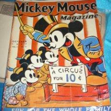Cine: MICKEY MOUSE MAGAZIN-CARTEL DE CARTON FINO MAYO 1937-DESCONOZCO SI ES ORIGINAL-LEER Y VER. Lote 207847745