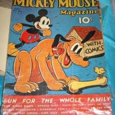 Cine: MICKEY MOUSE MAGAZIN-CARTEL DE CARTON FINO OCTUBRE 1937-DESCONOZCO SI ES ORIGINAL-LEER Y VER. Lote 207848173