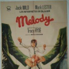 Cine: PÓSTER ORIGINAL MELODY 1971 JACK WIKD. BEE GEES. Lote 207860912