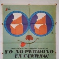 Cine: PÓSTER ORIGINAL YO NO PERDONO UN CUERNO 1976. Lote 207862180