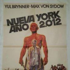 Cine: PÓSTER ORIGINAL NUEVA YORK 2012 (1978) YUL BRYNNER MAX VON SYDOW. Lote 207862850