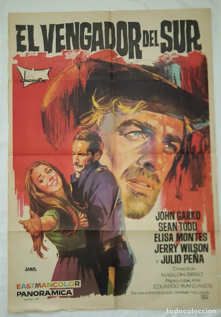 PÓSTER ORIGINAL EL VENGADOR DEL SUR (1969) (Cine - Posters y Carteles - Acción)