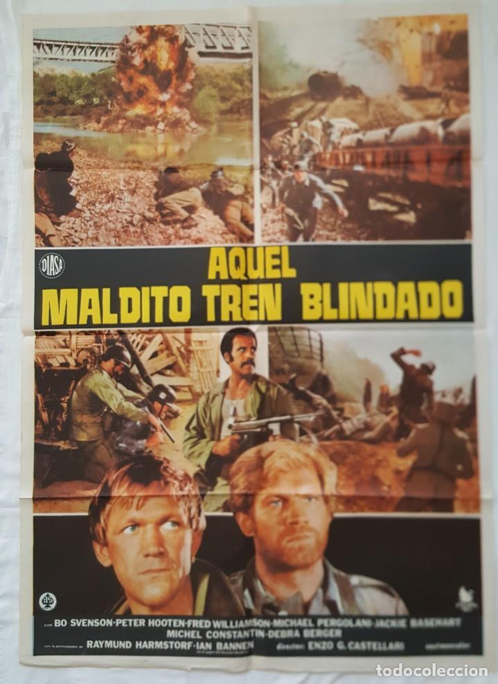 PÓSTER ORIGINAL AQUEL MALDITO TREN BLINDADO (Cine - Posters y Carteles - Acción)