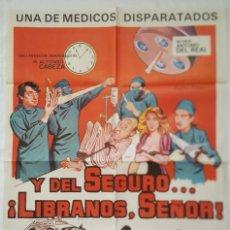 Cine: PÓSTER ORIGINAL Y DEL SEGURO, ¡LÍBRANOS SEÑOR! 1983. Lote 207867213