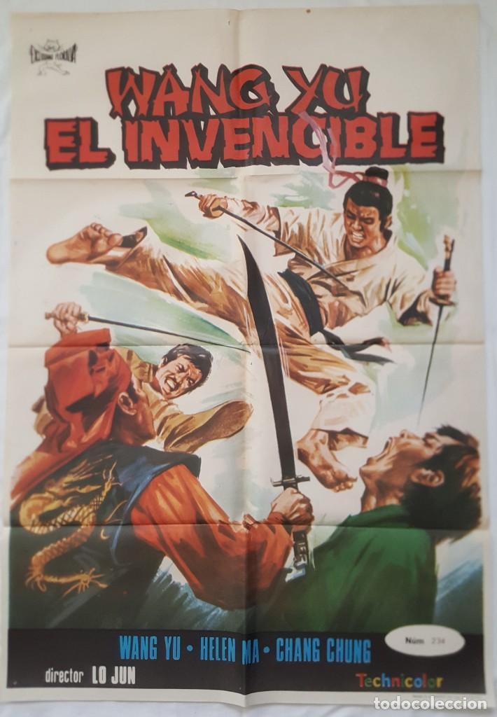 PÓSTER ORIGINAL WANG YU EL INVENCIBLE (Cine - Posters y Carteles - Acción)