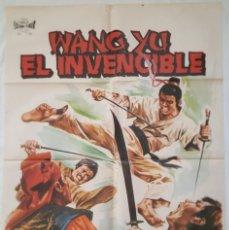 Cine: PÓSTER ORIGINAL WANG YU EL INVENCIBLE. Lote 207867595