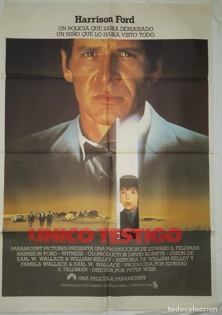 PÓSTER ORIGINAL ÚNICO TESTIGO (Cine - Posters y Carteles - Suspense)