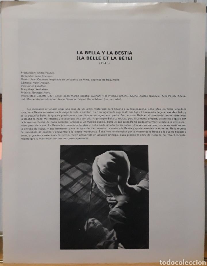 Cine: Lamina cartel de cine la belle et la bête jean cocteau 1945 - Foto 2 - 207923720