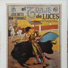 Cine: LAMINA CARTEL DE CINE EL TRAJE DE LUCES EDGARD NEVILLE 1946. Lote 207924045