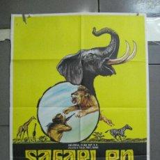Cine: CDO 3044 SAFARI EN AFRICA RON E. SHANIN DOCUMENTAL POSTER ORIGINAL 70X100 ESTRENO. Lote 207955018