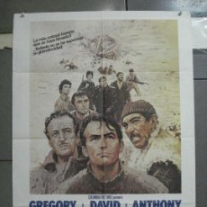 Cinéma: CDO 3065 LOS CAÑONES DE NAVARONE GREGORY PECK POSTER ORIGINAL 70X100 ESPAÑOL R-82. Lote 207972246