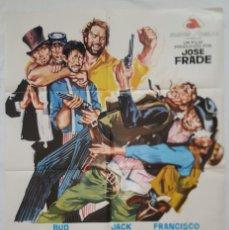 Cine: PÓSTER ORIGINAL EN EL OESTE SE PUEDE HACER AMIGOS 1972 BUD SPENCER FRANCISCO RABAL. Lote 207973945