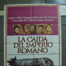 Cine: CDO 3068 LA CAIDA DEL IMPERIO ROMANO SOFIA LOREN POSTER ORIGINAL 70X100 ESPAÑOL R-80. Lote 255305255