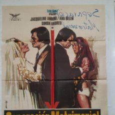 Cine: PÓSTER ORIGINAL SEPARACIÓN MATRIMONIAL 1973 ANA BELÉN. Lote 207975411