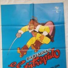 Cine: PÓSTER ORIGINAL D'ARTAGNAN EL INTRÉPIDO 1976. Lote 207975672