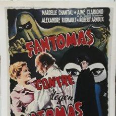 Cine: LAMINA CARTEL DE CINE FANTOMAS CONTRE FANTOMAS ROBERT VERNAY 1948. Lote 208016861