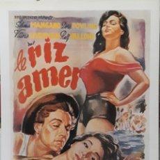 Cine: LAMINA CARTEL DE CINE LE RIZ AMER LUIGI DE LAURENTIS 1949. Lote 208017180