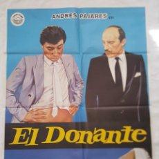 Cine: PÓSTER ORIGINAL EL DONANTE (1985). Lote 208074011