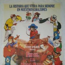 Cine: PÓSTER ORIGINAL FIEVEL Y EL NUEVO MUNDO. Lote 208076386