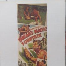 Cine: LAMINA CARTEL DE CINE TARZAN Y LA FUENTE MÁGICA LEE SHOLEM 1950. Lote 208116815