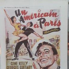 Cine: LAMINA CARTEL DE CINE UN AMERICANO EN PARÍS VICENTE MINNELLI 1950. Lote 208116965