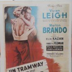 Cine: LAMINA CARTEL DE CINE UN TRANVÍA LLAMADO DESEO MARLON BRANDO 1951. Lote 208117388