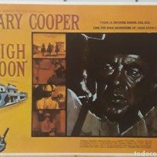 Cine: LAMINA CARTEL DE CINE SOLO ANTE EL PELIGRO GARY COOPER 1952. Lote 208117908