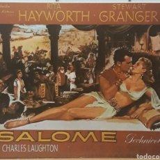 Cine: LAMINA CARTEL DE CINE SALOME WILLIAM DIETERLE 1953. Lote 208118165