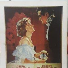 Cine: LAMINA CARTEL DE CINE MARGARITA GRETA GARBO CUKOR 1936. Lote 208118248