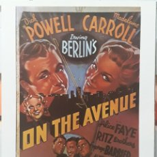 Cine: LAMINA CARTEL DE CINE ON THE AVENUE ROY DEL RUTH 1937. Lote 208118598