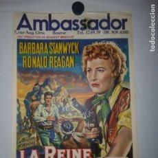 Cinema: LA REINE DE LA PRAIRIE - 1954 - 53 X 35. Lote 208215273
