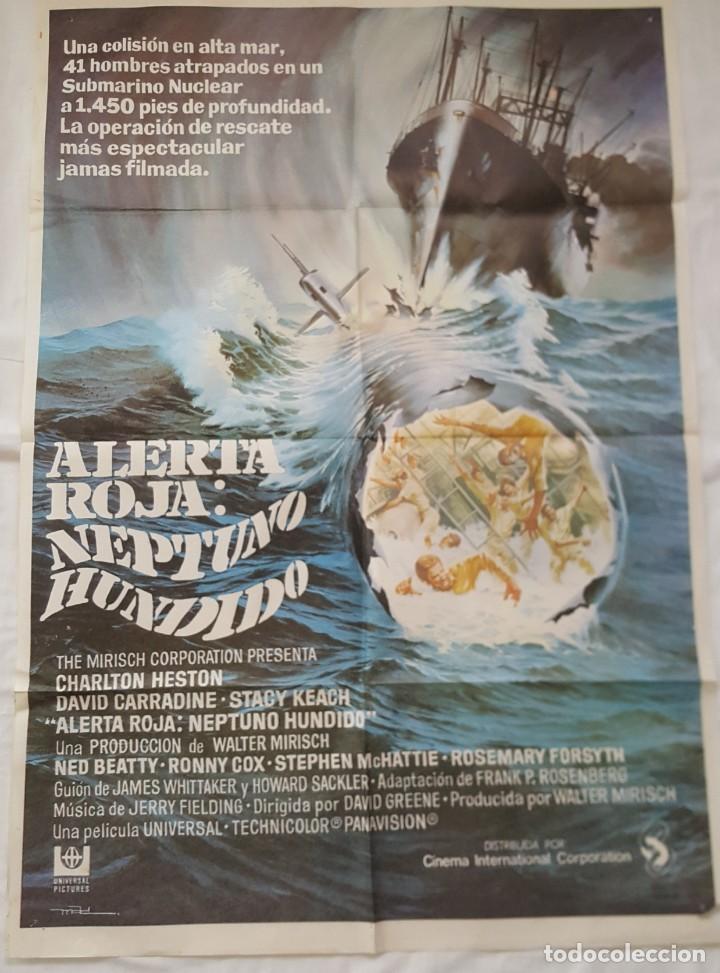 ALERTA ROJA; NEPTUNO HUNDIDO (Cine - Posters y Carteles - Suspense)