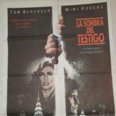 Cine: PÓSTER ORIGINAL LA SOMBRA DEL TESTIGO. Lote 208250042