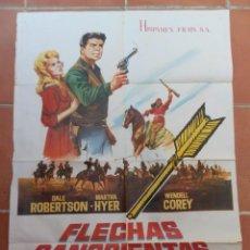Cinema: GRAN CARTEL DE CINE FLECHAS SANGRIENTAS. HISPAMEX FILMS. POSTER ORIGINAL AÑOS 60. MIDE 100 X 70 CM. Lote 208282696