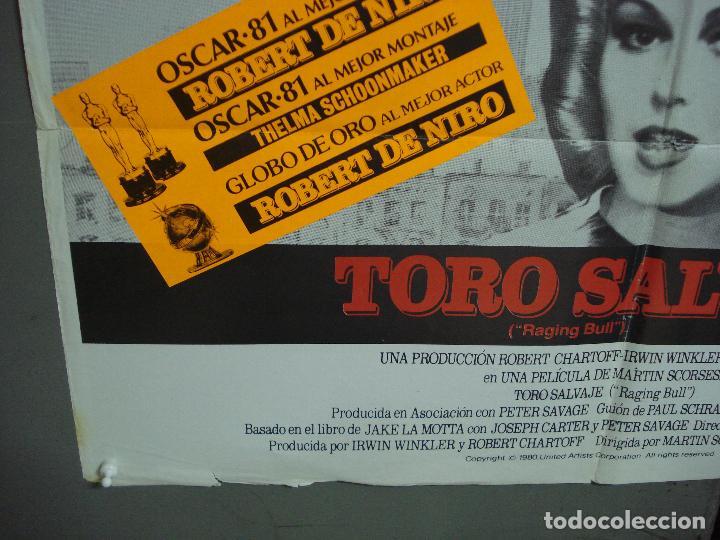 Cine: CDO K552 TORO SALVAJE ROBERT DE NIRO MARTIN SCORSESE BOXEO POSTER ORIGINAL ESTRENO 70X100 - Foto 5 - 208289651