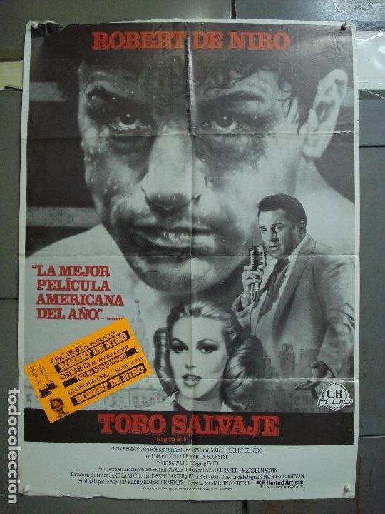 CDO K552 TORO SALVAJE ROBERT DE NIRO MARTIN SCORSESE BOXEO POSTER ORIGINAL ESTRENO 70X100 (Cine - Posters y Carteles - Deportes)