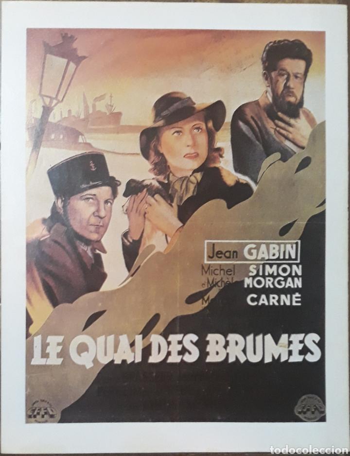LAMINA CARTEL DE CINE QUAI DES BRUMES MARCEL CARNÉ 1938 (Cine - Posters y Carteles - Suspense)