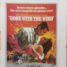 Cine: LAMINA CARTEL DE CINE LO QUE EL VIENTO SE LLEVO VÍCTOR FLEMING 1939. Lote 208328745