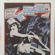 Cine: LAMINA CARTEL DE CINE EL ÁNGEL AZUL JOSEF VON STERNBERG 1930. Lote 208329013